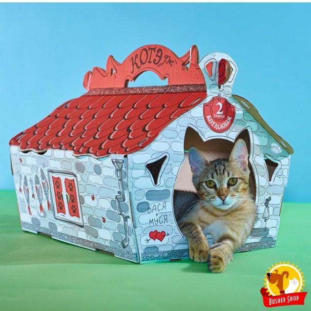 Картонный дом для кошки
