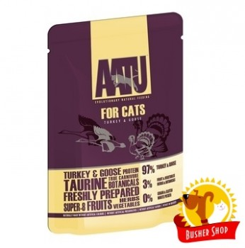 AATU паучи для кошек с индейкой и гусем, AATU FOR CATS TURKEY & GOOSE 85гр