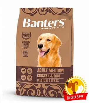 Banters Dog Adult Medium Chicken 15 Kg.
