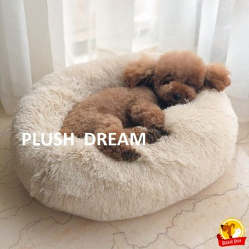 Plush  Dream плюшевый лежак р.60 / беж